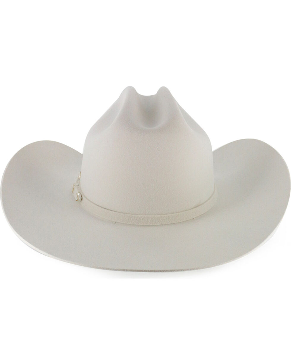 Stetson 3X Wool Cowboy Hat, White, hi-res