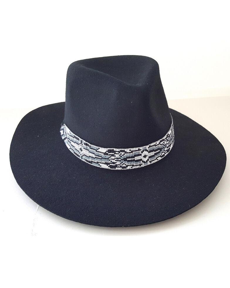 'ale by Alessandra Women's Sterling Black Hat, Black, hi-res