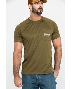 0078c72a3e Carhartt Men's Olive Force Birdseye Graphic Short Sleeve Work T-Shirt