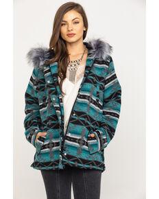 Outback Trading Co. Women's Turquoise Aztec Myra Jacket, Turquoise, hi-res