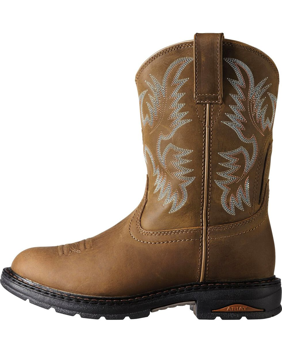 Ariat Women's Tracey Composite Toe Work Boots, Dusty Brn, hi-res