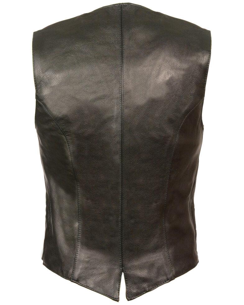 Milwaukee Leather Women's Classic Snap Front Vest - 4X, Black, hi-res