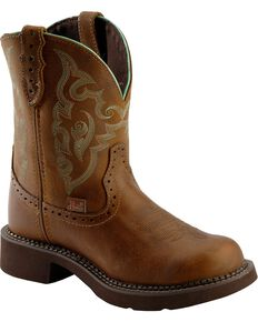 Justin Gypsy Women's Round Toe Western Boots, Tan, hi-res