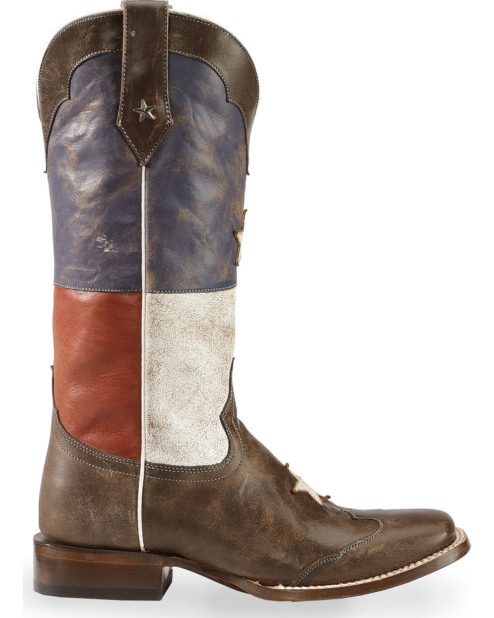 Roper Women's Star Western Boots, Brown, hi-res