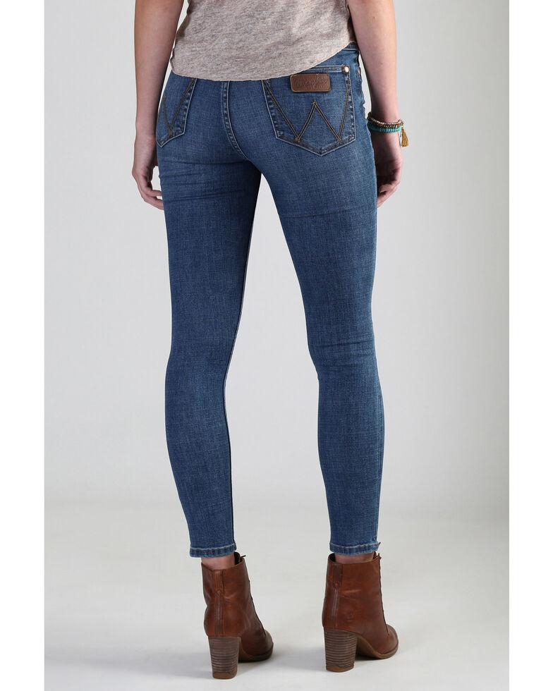 Wrangler Retro Women's Medium High Rise Skinny Jeans, Blue, hi-res