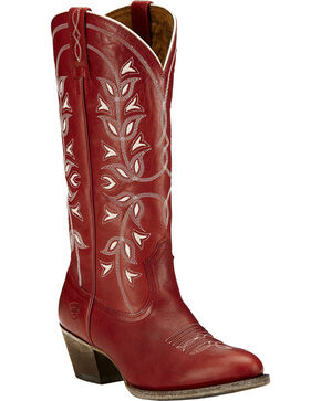 Ariat Women's Desert Holly Western Boots, Red, hi-res