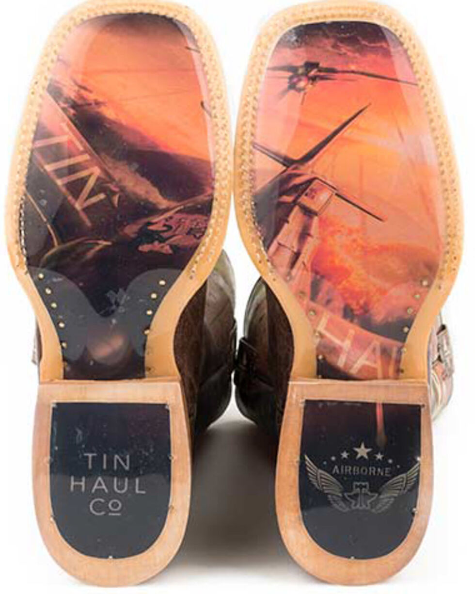 Tin Haul Men's Airborne Western Boots - Square Toe, Tan, hi-res