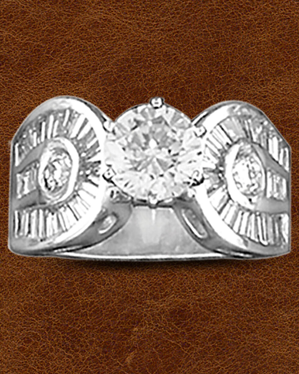 Kelly Herd Sterling Silver Horseshoe & Solitaire Ring, Silver, hi-res
