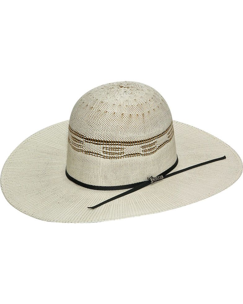 Twister Bangora Open Crown Cowboy Hat, Natural, hi-res