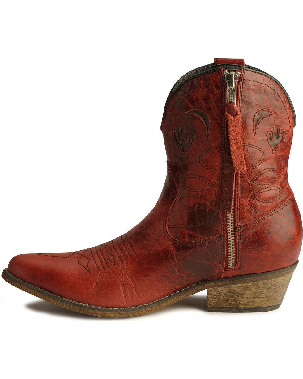 Dingo Women's Adobe Rose Western Boots, Red, hi-res