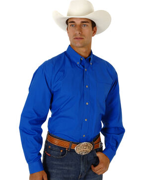 Roper Amarillo Collection Men's Shirt, Royal, hi-res