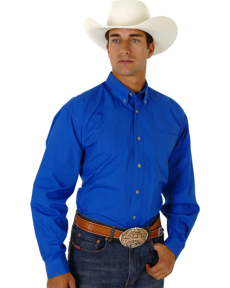 Roper Amarillo Collection Men's Shirt, Royal, hi-res