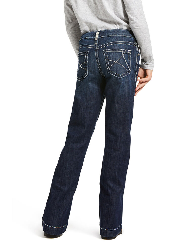 Ariat Girls' R.E.A.L. Naomi Ella Trouser, Blue, hi-res