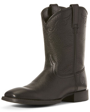 Ariat Women's Roper Lacer Western Boots - Wide Square Toe, Black, hi-res