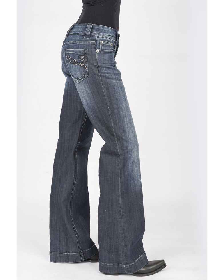 Stetson Women's Dark 214 Trouser Fit Jeans, Blue, hi-res