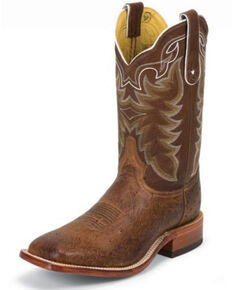 Tony Lama Men's Smooth Ostrich Exotic Boots, Brown, hi-res