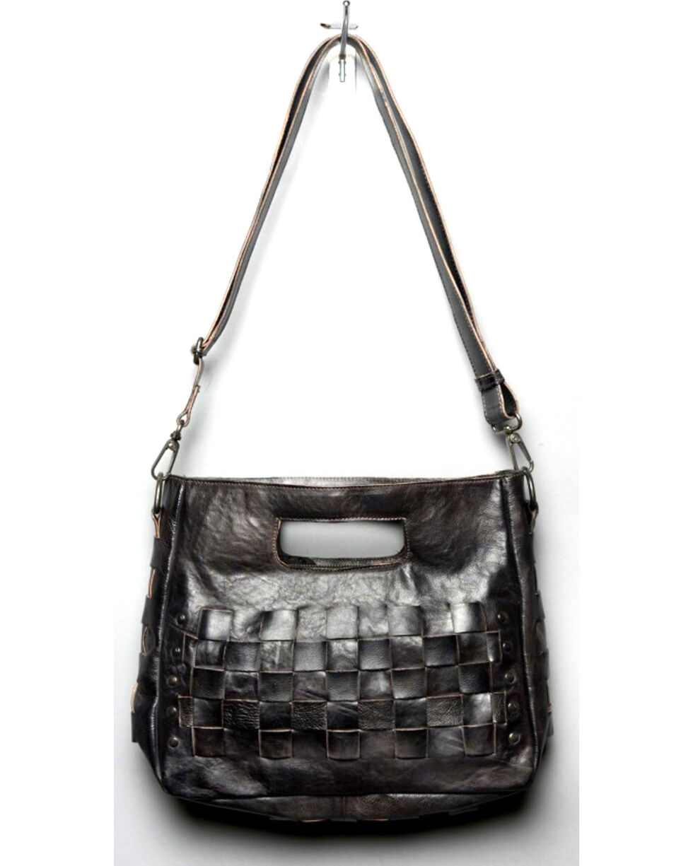 Bed Stu Women's Orchid Black Rustic Shoulder Bag, Black, hi-res