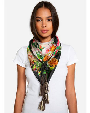 Johnny Was Women's Bed Of Roses Silk Scarf, Multi, hi-res