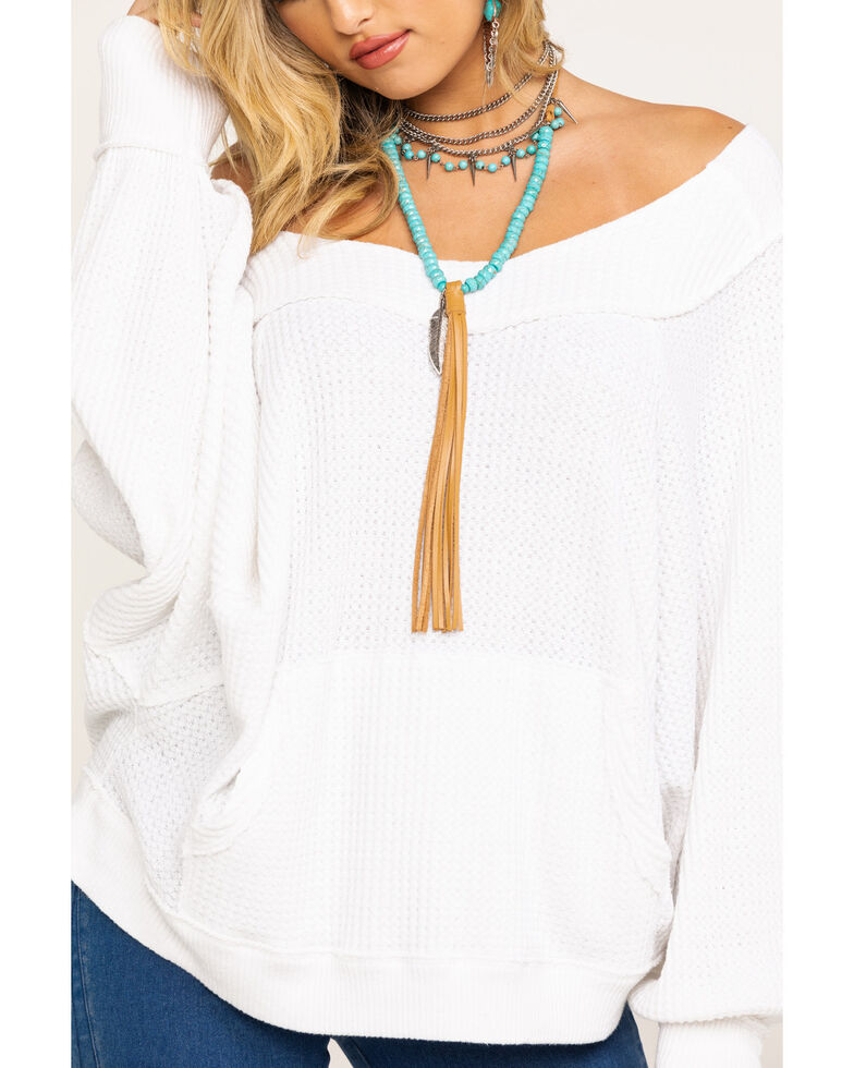 Free People Women's Westend Thermal Top, White, hi-res