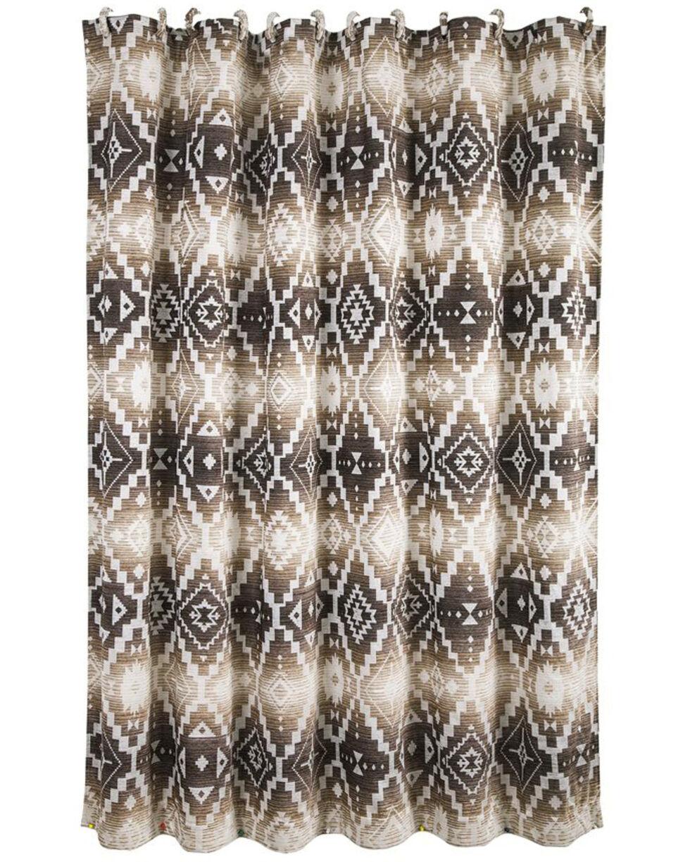 HiEnd Accents Chalet Aztec Shower Curtain , Multi, hi-res