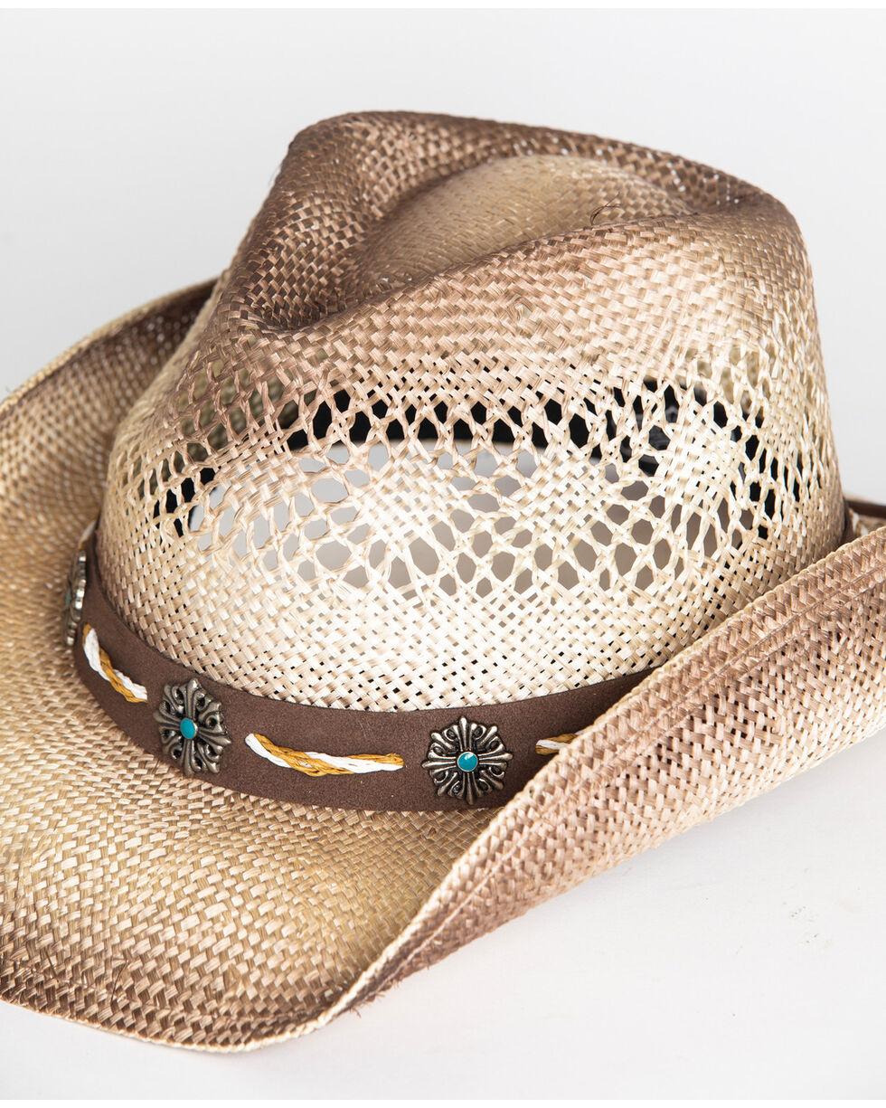 Shyanne® Women's Shaggy Straw Hat , Brown, hi-res
