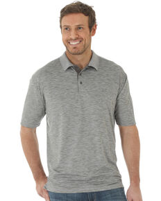 Wrangler 20X Men's Grey Advanced Comfort Short Sleeve Polo Shirt , Grey, hi-res