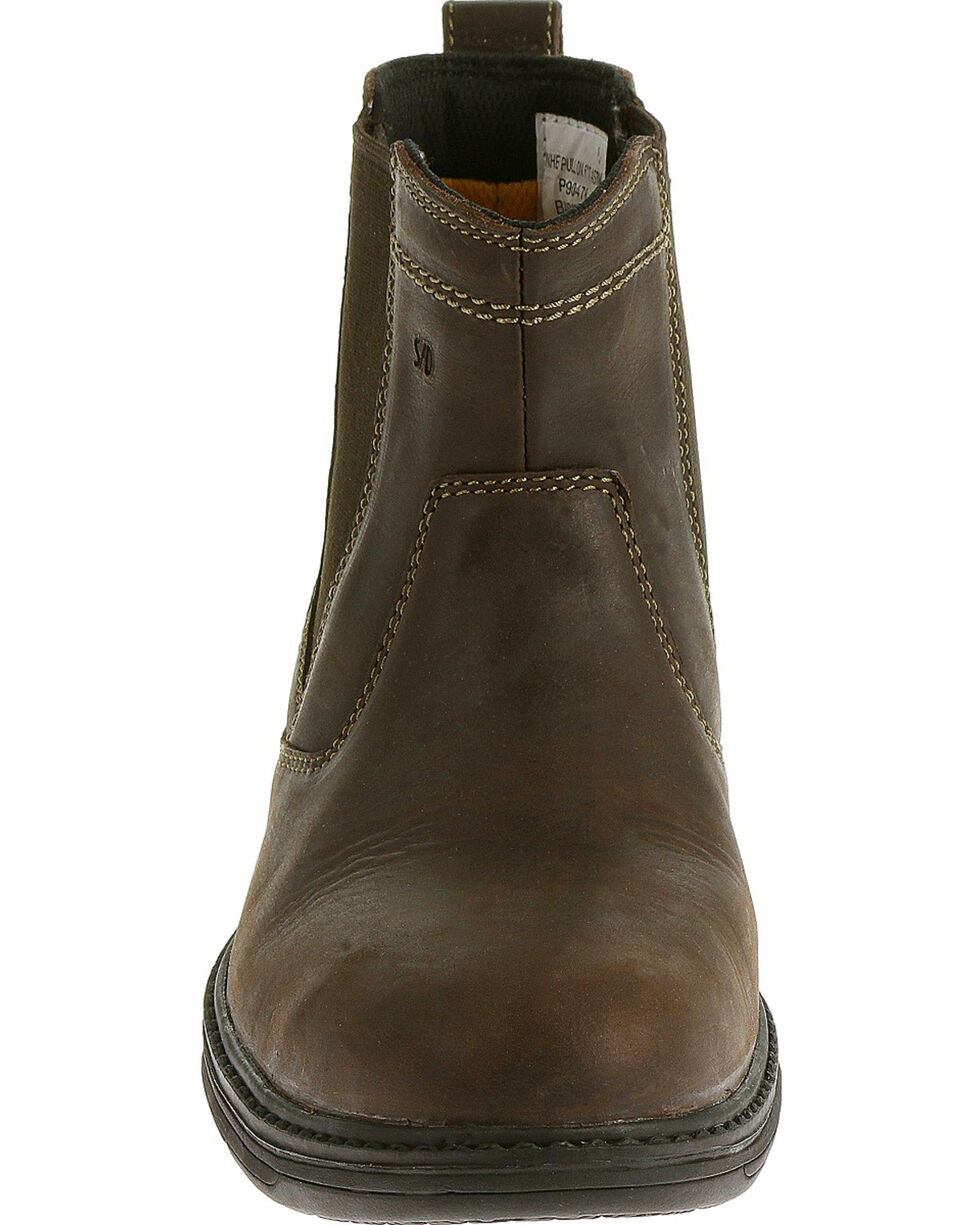 Caterpillar Men's Brown Inherit Pull On Work Boots - Steel Toe , Brown, hi-res