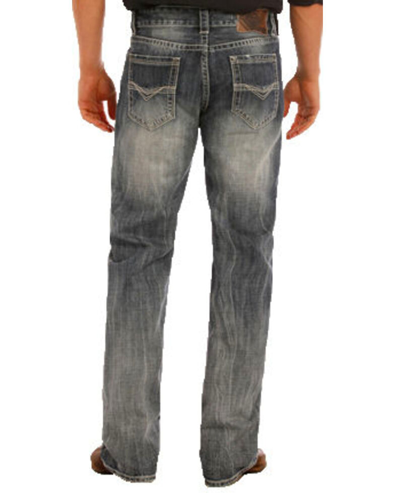 "Rock & Roll Denim Men's Double Barrel Small ""V"" Straight Leg Jeans, Indigo, hi-res"