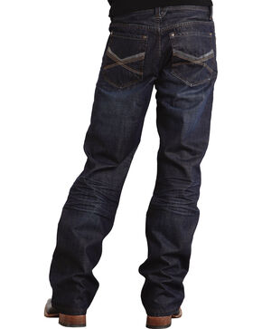 "Stetson Modern Fit Deco Double ""X"" Stitched Jeans, Dark Stone, hi-res"