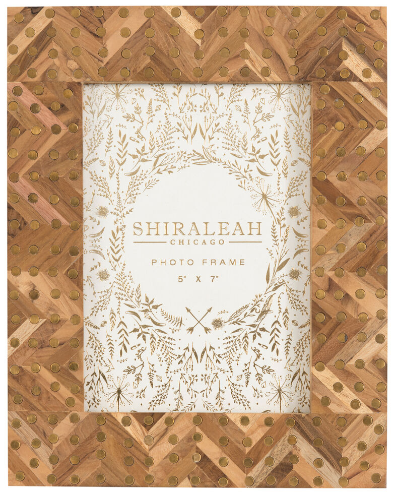 Shiraleah Mansour Studded Picture Frame, Brown, hi-res