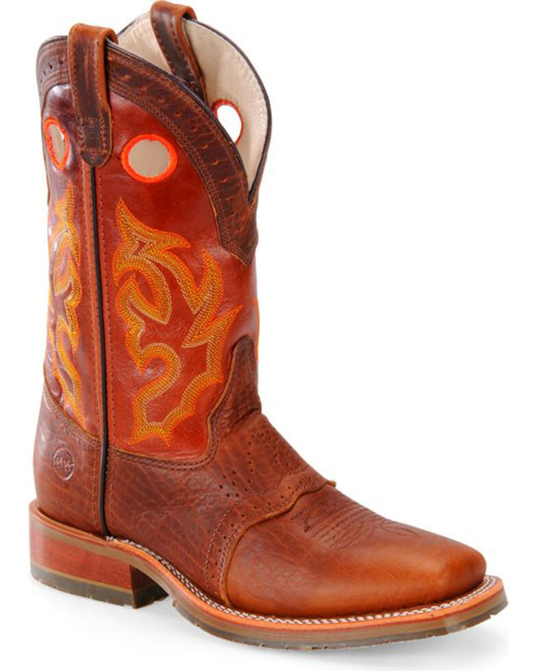Double H Men's Roper Buckaroo Western Boots - Square Toe, Brown, hi-res
