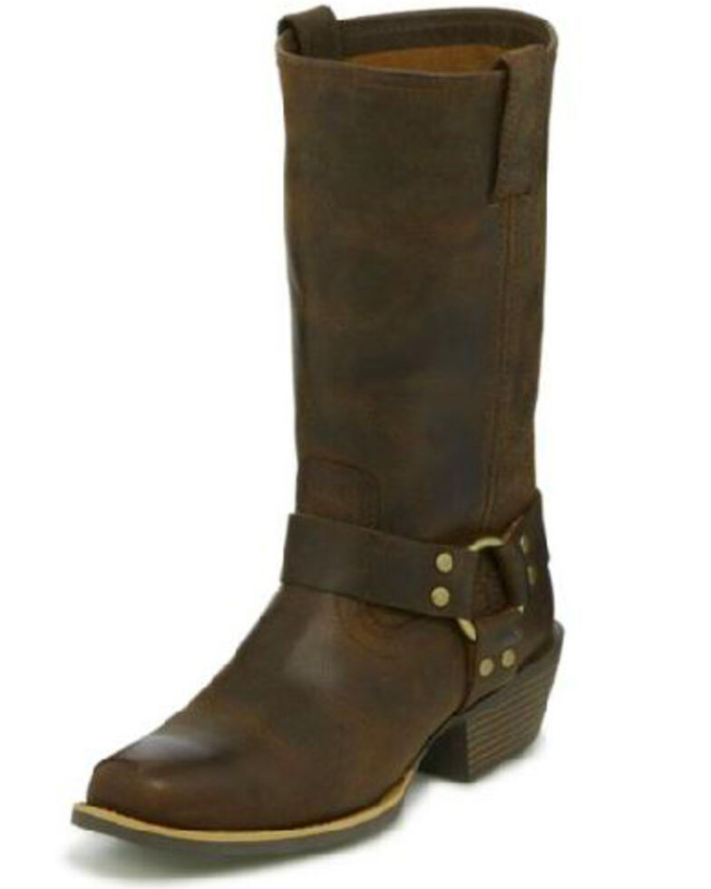 5de9c7fba Zoomed Image Justin Women's Heritage Buffalo Moto Boots - Square Toe,  Brown, hi-res