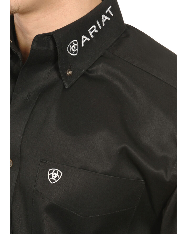Ariat Men's Black Long Sleeve Logo Long Sleeve Western Shirt , Black, hi-res