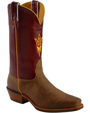 Nocona Men's Arizona State University College Boots, Tan, hi-res