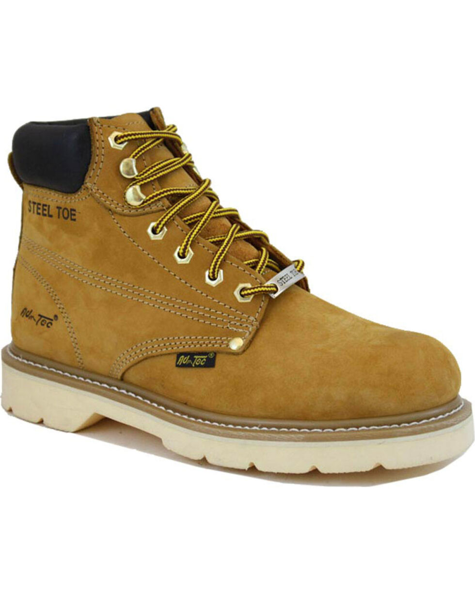 "Ad Tec Men's Nubuck Leather 6"" Work Boots, Tan, hi-res"