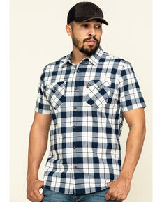 Levis' Men's Blue Multi Knox Plaid Short Sleeve Western Shirt , Multi, hi-res