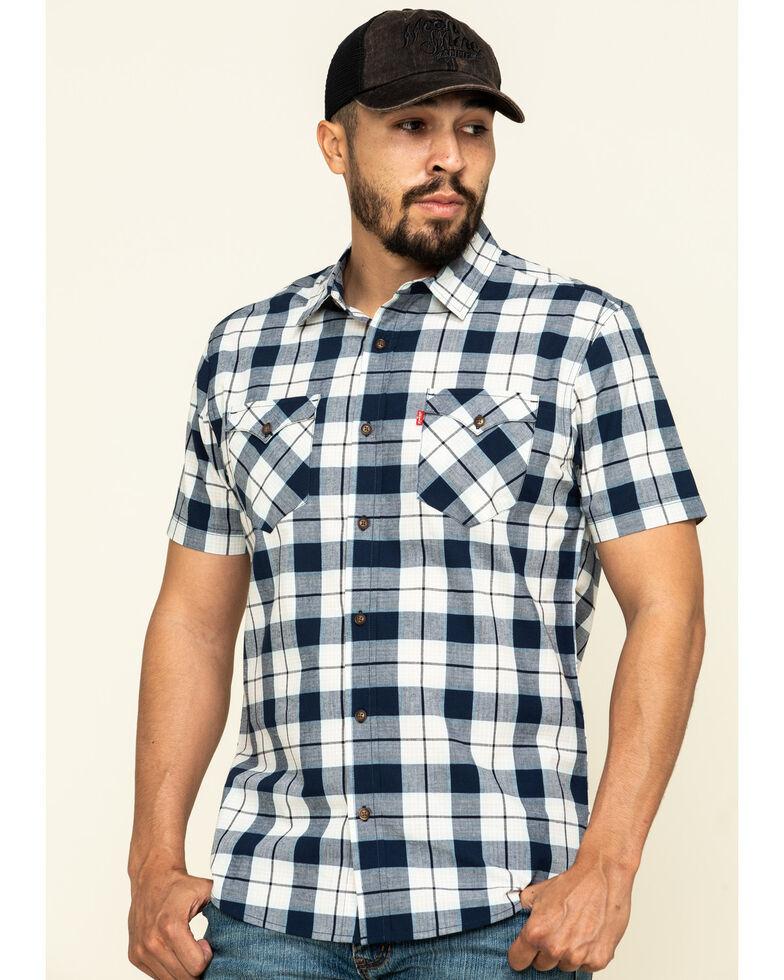 Levi's Men's Blue Multi Knox Plaid Short Sleeve Western Shirt , Multi, hi-res