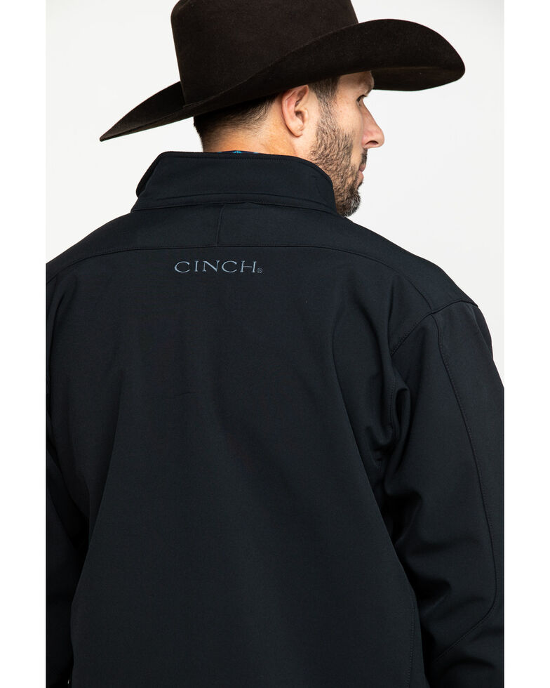 Cinch Men's Bonded Softshell Jacket, Black, hi-res