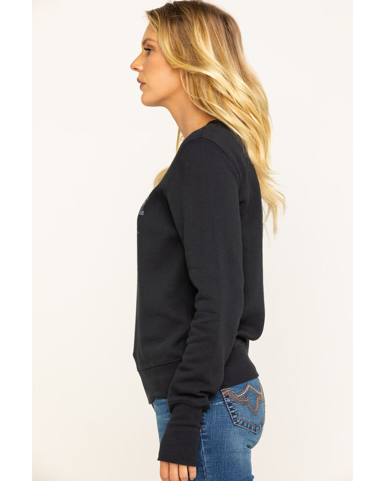 Shyanne Life Women's Whiskey Nights Sequin Pullover, Black, hi-res