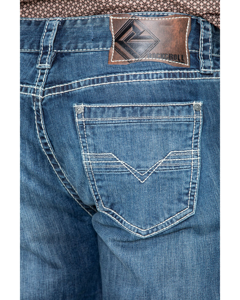 Rock & Roll Cowboy Men's Reflex Double Barrel Straight Leg Jeans, Blue, hi-res