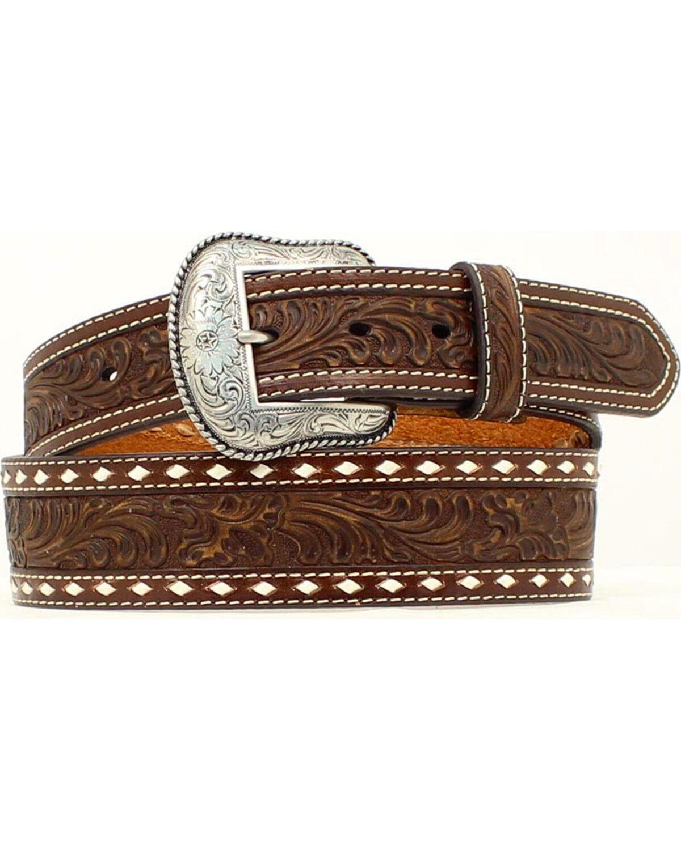 Nocona Mens Black Western Basic Belt Ariat Men/'s Accessories N2452201