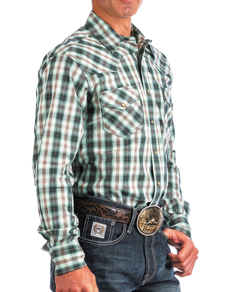 Cinch Men's Modern Fit Multi Plaid Long Sleeve Western Shirt, Purple, hi-res