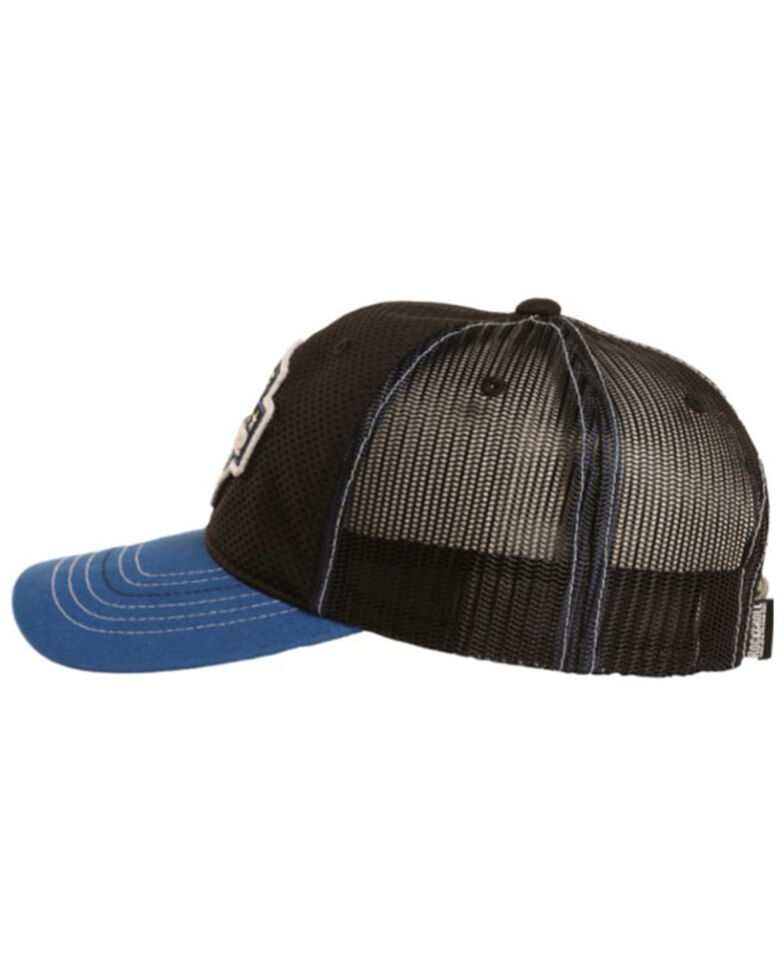 Tuf Copper Men's Black Authentic Logo Patch Mesh-Back Trucker Cap  , Black, hi-res