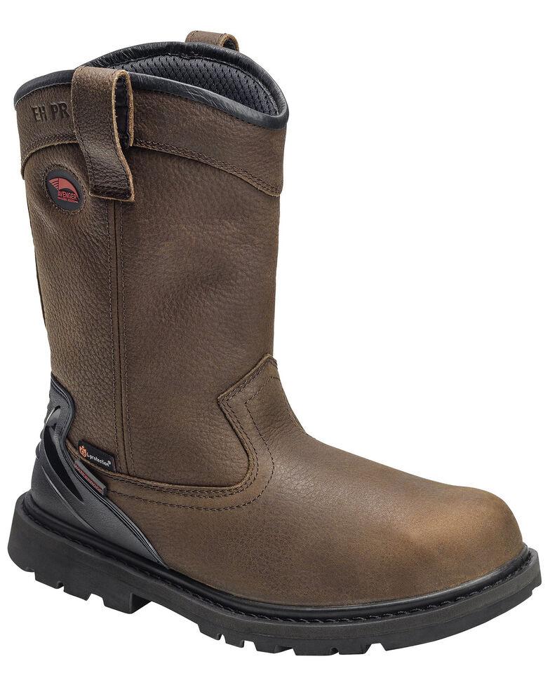 Avenger Men's Waterproof Western Work Boots - Soft Toe, Brown, hi-res