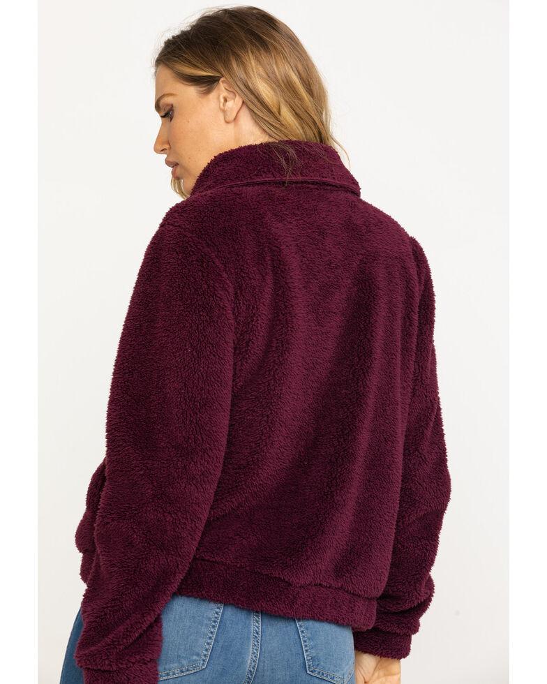 Z Supply Women's Rust Sherpa Crop Jacket, Rust Copper, hi-res