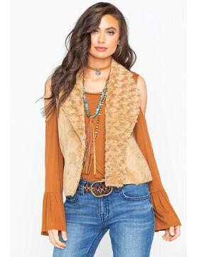 Ariat Women's Faux Suede Knit Alta Vest , Taupe, hi-res