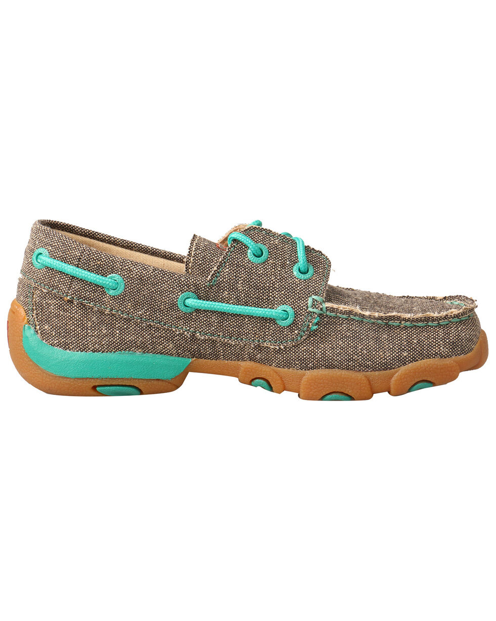 Twisted X Kids' Boat Shoes - Moc Toe, Grey, hi-res