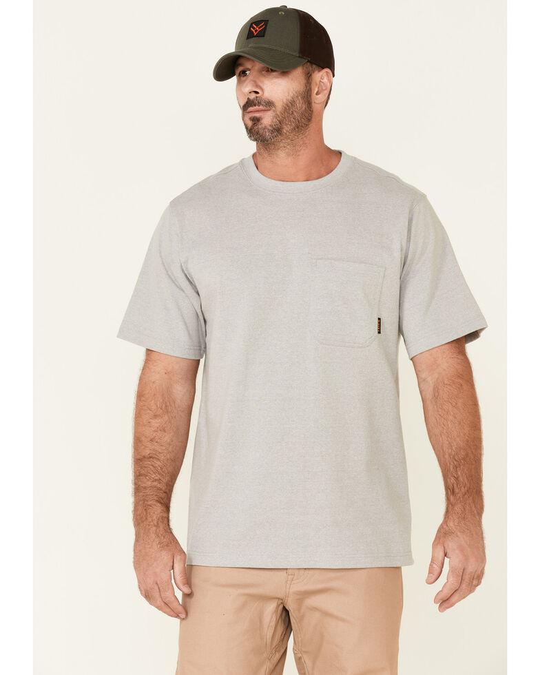 Hawx Men's Solid Light Grey Forge Short Sleeve Work Pocket T-Shirt , Light Grey, hi-res