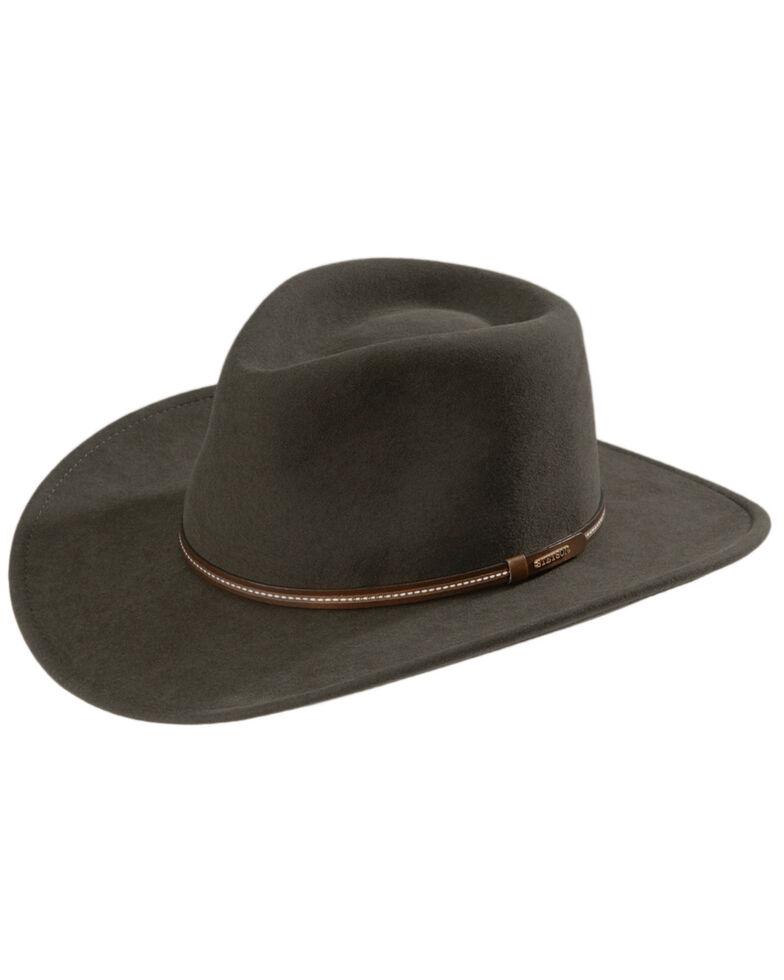 Stetson Gallatin Crushable Wool Hat, Sage, hi-res