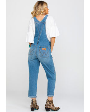 Wrangler Women's Texas Heritage Modern High Rise Denim Overall , Blue, hi-res